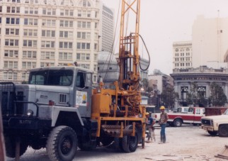 Downtown drilling work